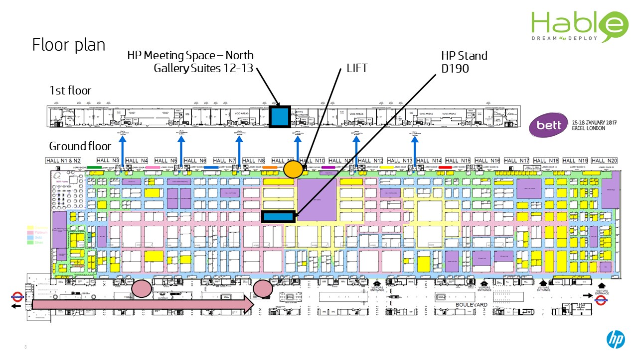 Hable on the HP stand (D190) at #BETT18 | Hable