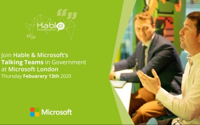 Presenting Talking Teams in Government at Microsoft London