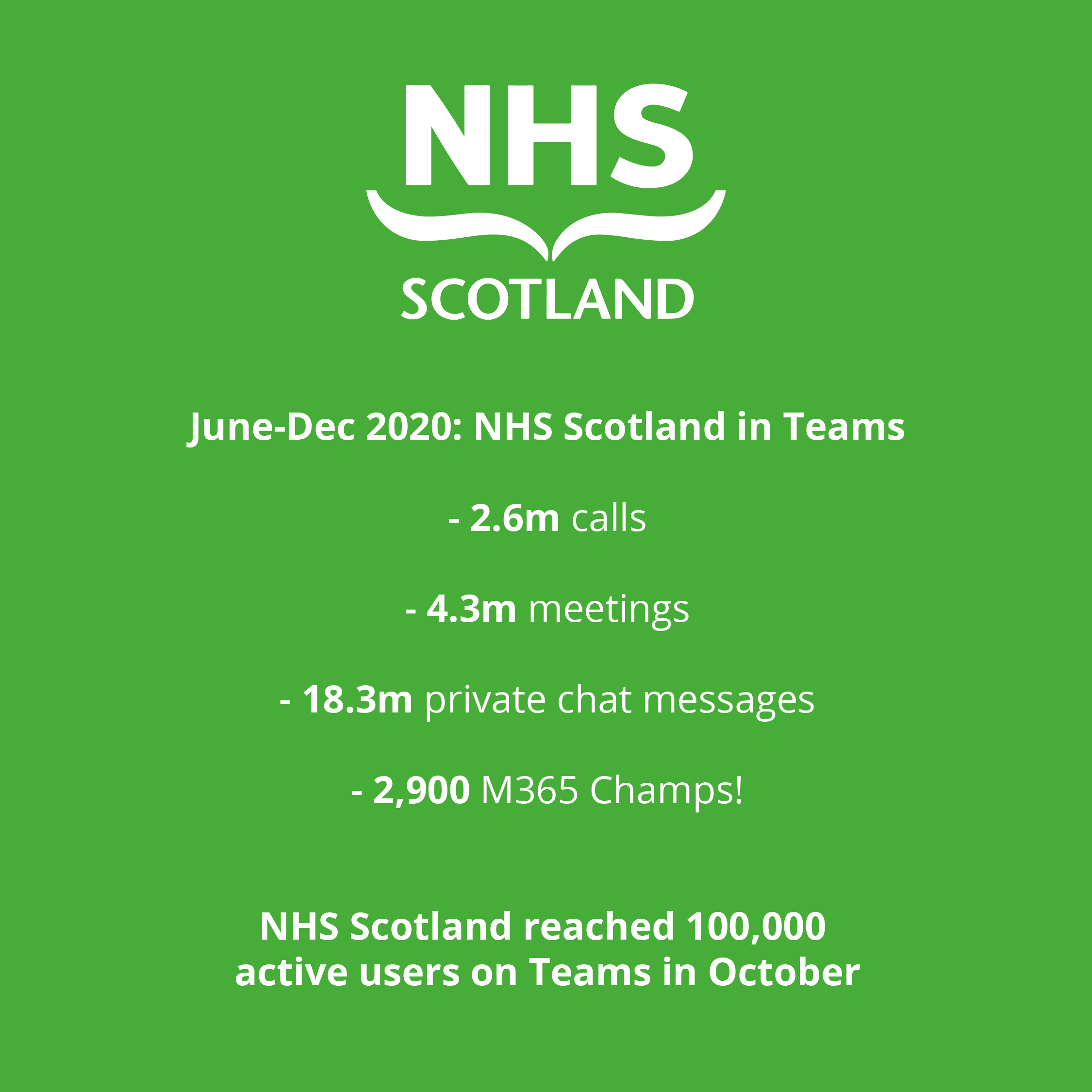Graphic showing quote from Seonaid Reid at NHS Scotland